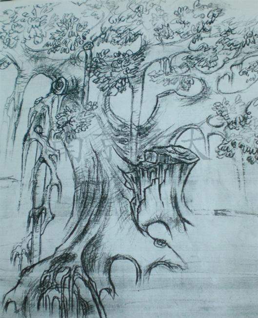 5米,蓬径约4米,配仿真桃花叶.   假树参考效果图