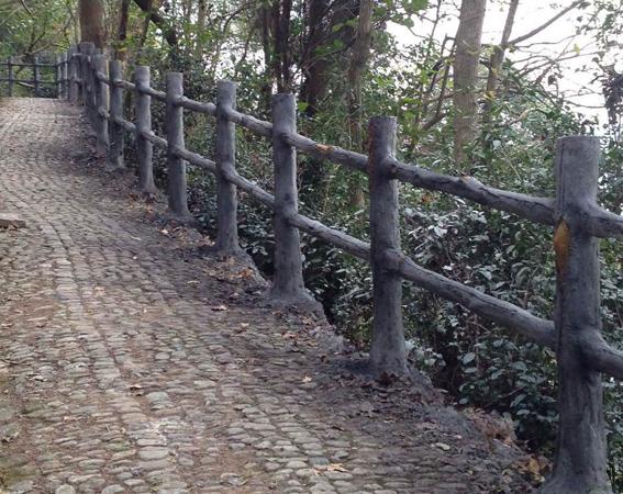 宁波宁海跃龙山公园仿木栏杆工程通过验收
